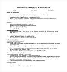 Resume Template It Technology Professional Resume Example Sample Technology