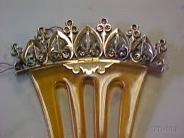 antique hair combs antique diamond and pearl hair comb sale number 2448 lot number