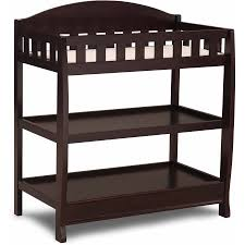 Changing Tables Walmart Delta Children Wilmington Changing Table With Pad Chocolate