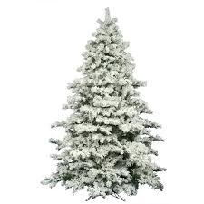 unlit christmas trees the aisle flocked alaskan 9 white pine artificial unlit
