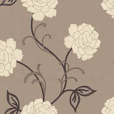 arthouse opera lauren brown cream wallpaper departments diy wallpaper