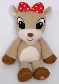 hallmark clarice rudolph red nosed reindeer plush sings holly
