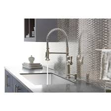 kohler gooseneck kitchen faucet kohler sous pro style single handle pull sprayer kitchen