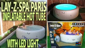 tub led lights lazy spa paris unboxing inflatable tub with led light youtube
