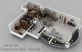 4 bedroom luxury apartment floor 3d plan beach houses barbados 3d