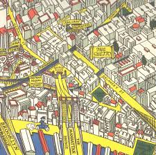 A Map Of New York City by The Ghetto U201d On A 1926 Manhattan Map Ephemeral New York