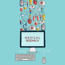 recherche ordinateur de bureau recherche médicale icônes tirées par la de soins de santé et de