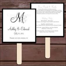 wedding program fan kits wedding program fan template free diy paddle fan program