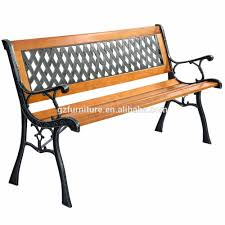 Resin Wood Outdoor Furniture by Mesh Resin Wood And Cast Iron Park Bench Buy Patio Furniture