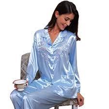 womens silk satin pajamas set sleepwear loungewear xs 3xl plus at