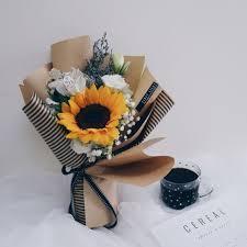 sunflower bouquet korean style inspired single sunflower bouquet design craft