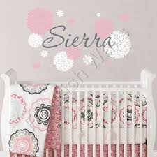 Pink And Brown Nursery Wall Decor 11 Flower Baby Nursery Wall Decor Decorating Theme Bedrooms