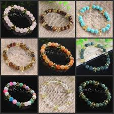 crystal stone bracelet images 2018 mixture wholesale charm natural crystal stone round shape jpg