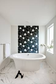 ideas for bathroom walls modern contemporary small bathroom with chic mosaic shower tiles