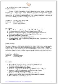 Sample Resume For Software Engineer With 1 Year Experience by Over 10000 Cv And Resume Samples With Free Download Free Download