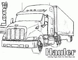 tractor trailer coloring free printable truck activity