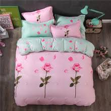 Pink Rose Duvet Cover Set Popular Pink Roses Bedding Buy Cheap Pink Roses Bedding Lots From