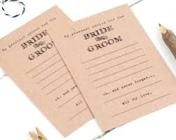 advice for the and groom cards wedding advice cards etsy