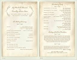 Programs For Weddings 30 Wedding Program Design Ideas To Guide Your Wedding Guests