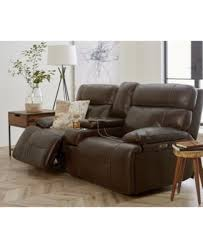 couch and sofas barington leather sofa with 2 power recliners power headrests and