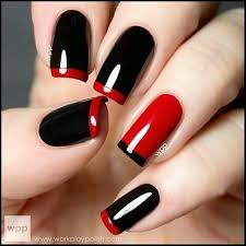 17 black and red 24 fancy nail art designs that you u0027ll love