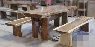 Wood Dining Table With Bench And Chairs Dining Table