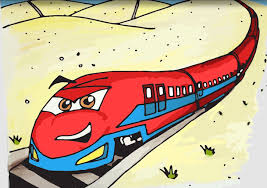 drawing of a train how to draw a bullet train stepstep trains