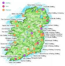 Map Of Dublin Ireland Map Of Irish Whiskey Distilleries