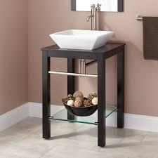 Cayneston Vessel Sink Vanity Black Bathroom - Black bathroom vanity with vessel sink
