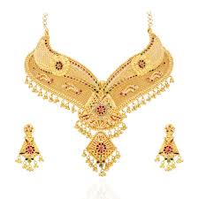 gold set for marriage collections wedding fashion beautiful bridal necklace gold dress