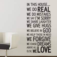 inspirational family quotes promotion shop for promotional in this house we do real house rules family prase quote decal inspirational love wall vinyl art sticker 22