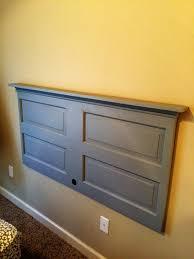 Diy Door Headboard Diy Headboard And Shelf From Reclaimed Door Jbsworkshop