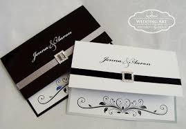Black Card Invitation Heart Design Wedding Invitation Black And White Different Design