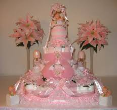 baby shower cake designs for a girls diaper cakes pink half