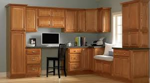 Paint Colours For Kitchen Cabinets by Gray Walls Oak Cabinets Light Blue Grey With Oak Cabinets