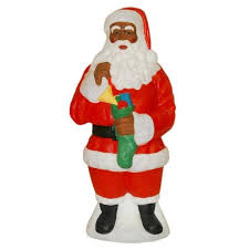 outdoor plastic lighted santa claus black african american santa claus christmas holiday outdoor