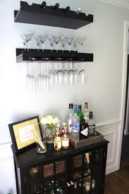 this is how an organize home bar area looks like when it is quite