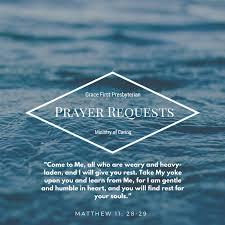 prayer request grace presbyterian church