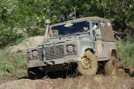 land rover mud land rover at offroad rally competition stock photo picture and