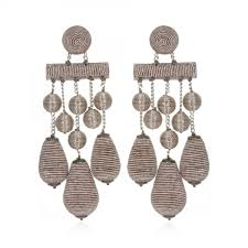 teardrop chandelier earrings suzanna dai taupe pewter metallic teardrop chandelier earrings jpg