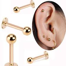 metal ball rings images 2 piece gold labret ring 16g spike ball surgical stainless steel jpg