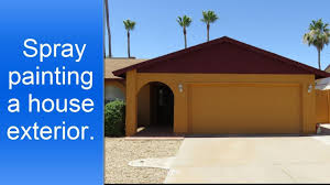 spray painting a house exterior stucco and wood trim youtube