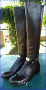 womens boots used michael kors arley boot womens size 6 brown fashion knee