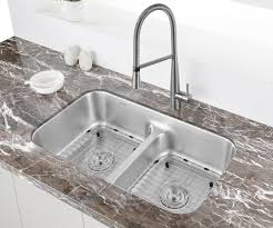 low divide stainless steel sink ruvati 32 inch low divide 50 50 double bowl undermount 16 gauge