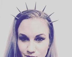 spiked headband elizabeth spiked crown spike headband silver spikes