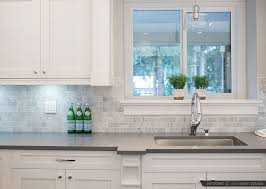 Subway White Marble Backsplash Tile Idea Backsplashcom - Marble backsplash tiles