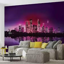 city new york skyline wall paper mural buy at europosters city new york skyline wallpaper mural