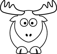 reindeer raindeer elk black white line art christmas xmas coloring