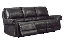 Black Reclining Sofa Curly U0027s Furniture Milhaven Black Reclining Sofa And Loveseat W Console