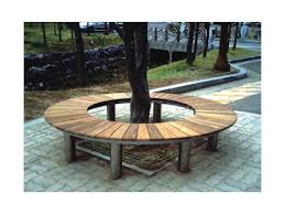 outdoor park bench wood round tree bench round tree bench bh14804